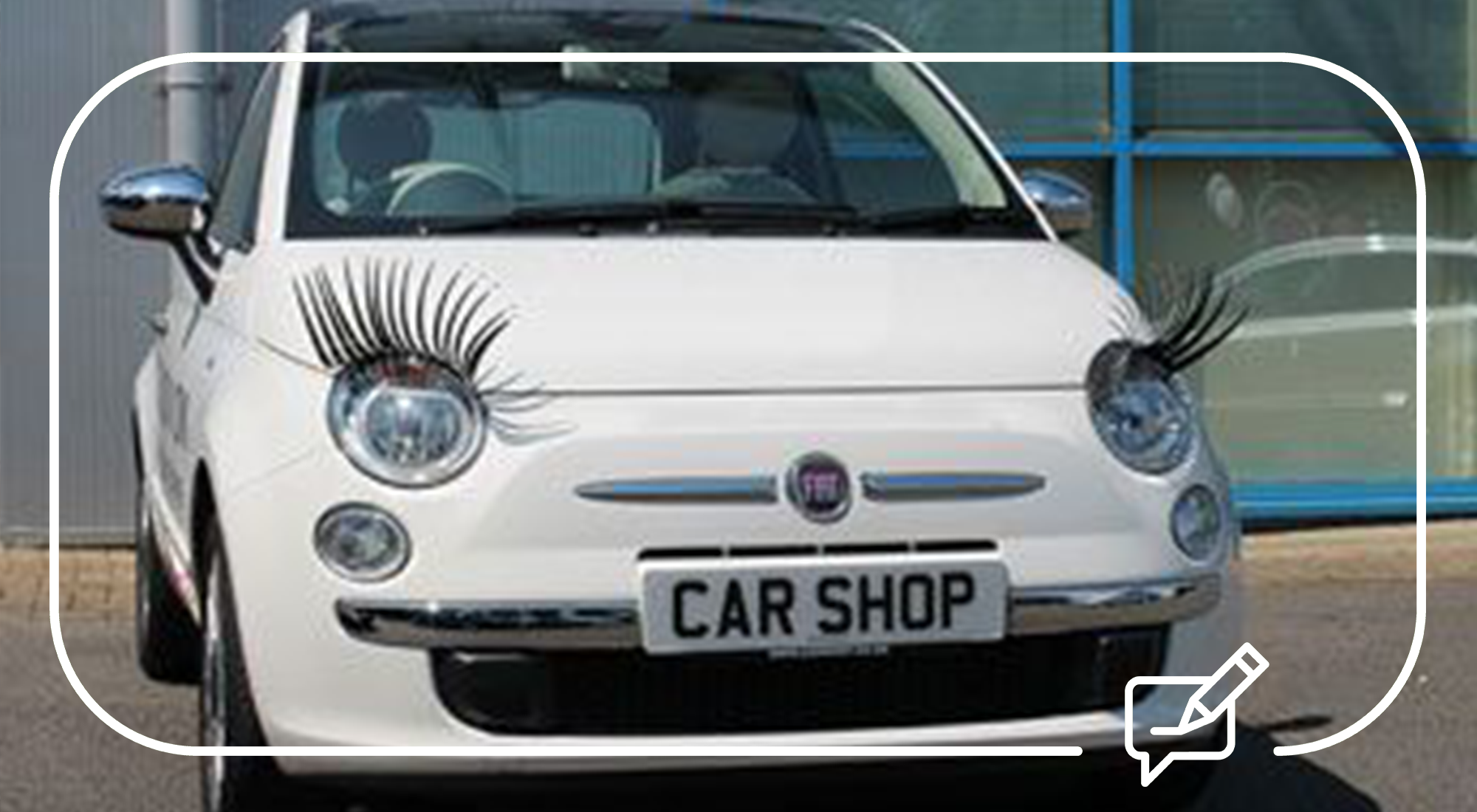 Headlight Eyelashes Hailed As The Ultimate In Bad Taste Car Accessories